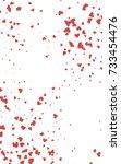 light red vertical hearts... | Shutterstock . vector #733454476