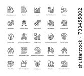 project management vector icons ... | Shutterstock .eps vector #733455802