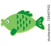fish  carp  vector icon | Shutterstock .eps vector #733457932