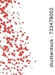 light red vertical lovely... | Shutterstock . vector #733478002