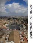 st. peter's square in the... | Shutterstock . vector #733482922