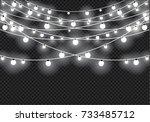 christmas lights isolated on... | Shutterstock .eps vector #733485712