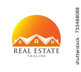 real estate logo design | Shutterstock .eps vector #733488088