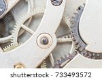 details of watches and... | Shutterstock . vector #733493572