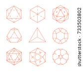geometric figures. archimedes'... | Shutterstock .eps vector #733503802