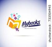 my books logo concept. online...   Shutterstock .eps vector #733504945