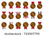 bronze medal icon illustration...