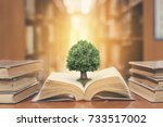 world philosophy day concept... | Shutterstock . vector #733517002