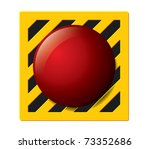 launch button in red on a... | Shutterstock .eps vector #73352686