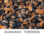 stones thrown on the ground ... | Shutterstock . vector #733536526