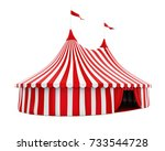circus tent isolated. 3d... | Shutterstock . vector #733544728