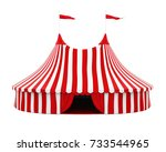 Circus Tent Isolated. 3d...