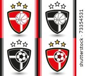 basketball   football emblem | Shutterstock .eps vector #73354531