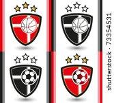 basketball   football emblem | Shutterstock .eps vector #73354531