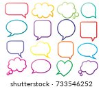 blank empty speech bubbles for... | Shutterstock .eps vector #733546252