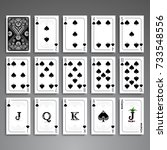 poker cards full set four color ... | Shutterstock .eps vector #733548556