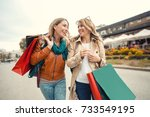 Happy Friends Shopping. Two...
