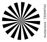vector eye test chart. visual... | Shutterstock .eps vector #733549762
