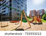 children playground equipment...   Shutterstock . vector #733553212