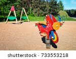 children playground equipment... | Shutterstock . vector #733553218