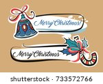 holly jolly. sweet candy and... | Shutterstock .eps vector #733572766
