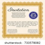 orange retro vintage invitation.... | Shutterstock .eps vector #733578082