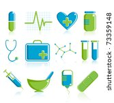 illustration of set of medical... | Shutterstock .eps vector #73359148