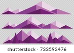 mountains low poly style set.... | Shutterstock .eps vector #733592476