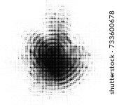 abstract grunge grid polka dot... | Shutterstock .eps vector #733600678
