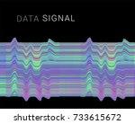 distorted signal. vaporwave  ... | Shutterstock .eps vector #733615672