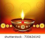 happy diwali festival ... | Shutterstock .eps vector #733626142