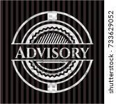 advisory silvery badge | Shutterstock .eps vector #733629052