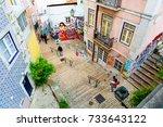 lisbon  portugal   15 04 2015 ... | Shutterstock . vector #733643122