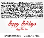 happy holidays and happy new... | Shutterstock .eps vector #733643788