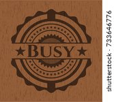 busy realistic wood emblem | Shutterstock .eps vector #733646776