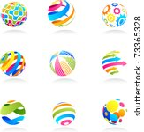 abstract globe icons | Shutterstock .eps vector #73365328