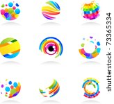Abstract Globe Icons Collection