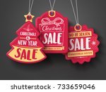 Red Christmas Sale Paper Tags...