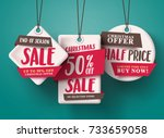 end of season christmas sale... | Shutterstock .eps vector #733659058
