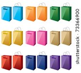 shopping bags in different...   Shutterstock .eps vector #73366900