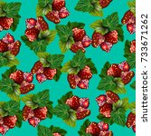 seamless pattern with... | Shutterstock .eps vector #733671262