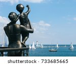 monument to wife sailor in sea... | Shutterstock . vector #733685665