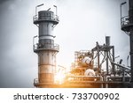 close up industrial zone. plant ... | Shutterstock . vector #733700902