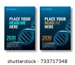 dna helix. cover template for... | Shutterstock .eps vector #733717348