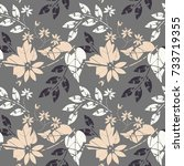 stylish seamless pattern with... | Shutterstock .eps vector #733719355