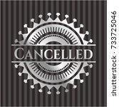 cancelled silvery badge | Shutterstock .eps vector #733725046