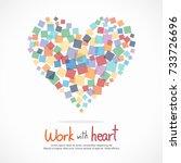square in heart shape for... | Shutterstock .eps vector #733726696