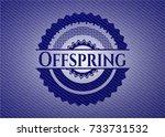 offspring badge with denim... | Shutterstock .eps vector #733731532