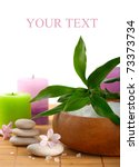 stones and sea salt and flowers | Shutterstock . vector #73373734