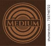 medium retro wooden emblem | Shutterstock .eps vector #733748722